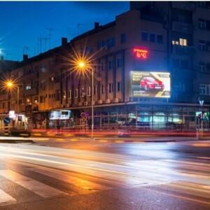 Požarevac, centar, ulica Moše Pijade, OUTDOOR led bilbordi