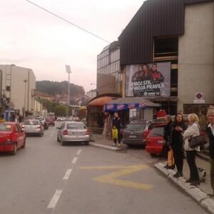 Užice, centar, ulica Omladinska, OUTDOOR bilbordi