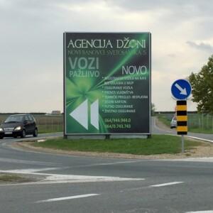Stara Pazova, periferija, ulaz na auto put Novi Sad - Beograd, OUTDOOR bilbordi