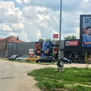 Stara Pazova, periferija, ulica Karađorđeva, OUTDOOR bilbordi