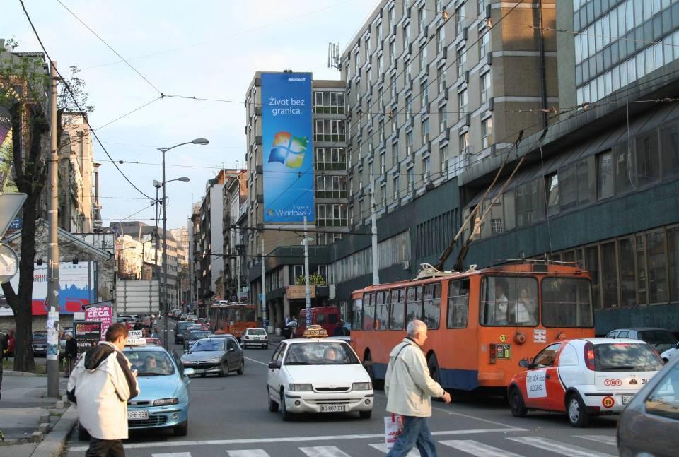 Beograd Makenzijeva Slavija Outdoor Fasadna Reklama