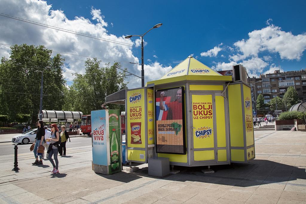 Beograd Ulica Dzordza Vasingtona Outdoor Led Bilbordi Kiosk
