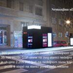 Beograd, Nemanjina, OUTDOOR led bilbordi kiosk